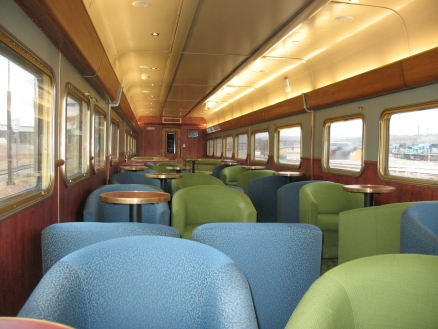 Inside the day lounge, Indian Pacific.