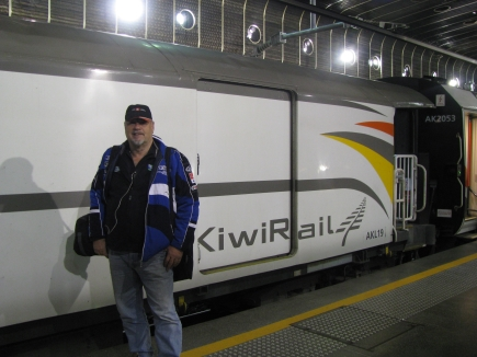 Mike with the Northern Explorer at Britomart.